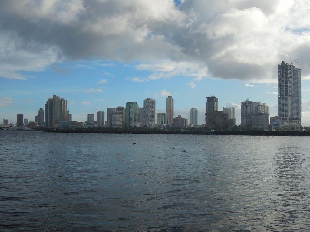 A view of the Manila skyline on the way to Corregidor Island