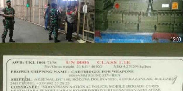 GEGER, Telah Masuk Senjata Impor Untuk Polri Seperti Senjata Angkatan Perang