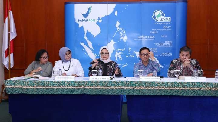 BPOM Tegaskan tentang Susu Kental manis (SKM) melalui Konferensi Pers