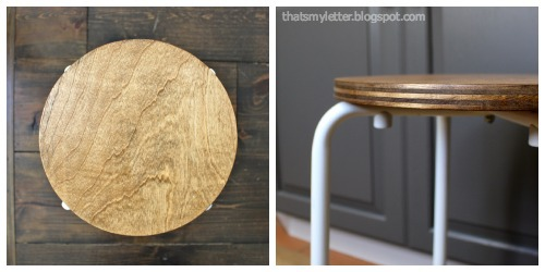 plywood stool seat