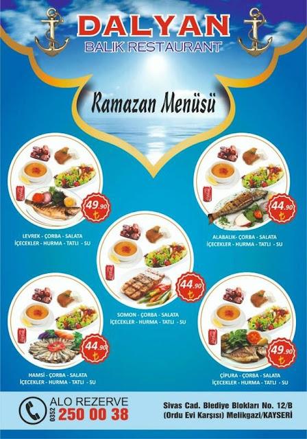 dalyan balık evi kayseri ramazan 2019 iftar menüleri kayseri iftar yerleri