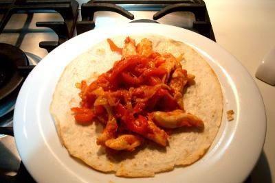 Fajita di pollo e peperoni 14