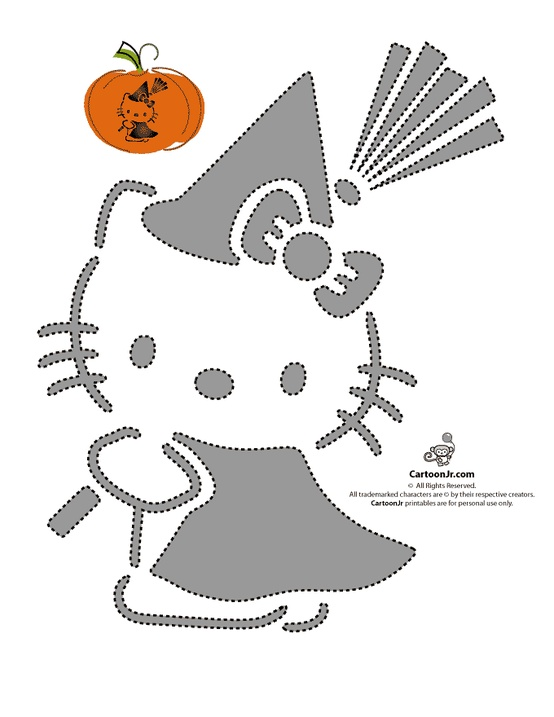 The creative cubby pinspiration friday pumpkin carving for Hello kitty cut out template
