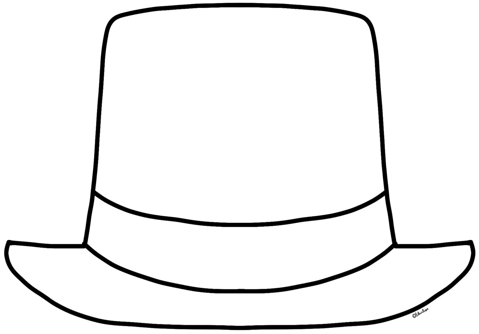 Hat Clip Art Free Black And White