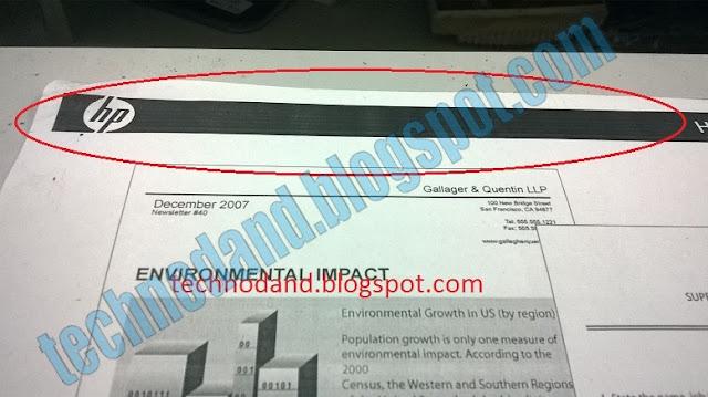 Printer Laser Jet Hp 2035 CETAKAN TIDAK RATA