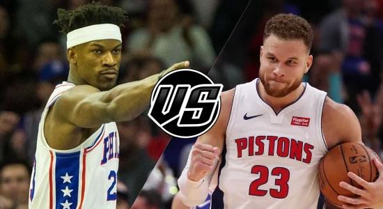 Live Streaming List: Philadelphia 76ers vs Detroit Pistons 2018-2019 NBA Season