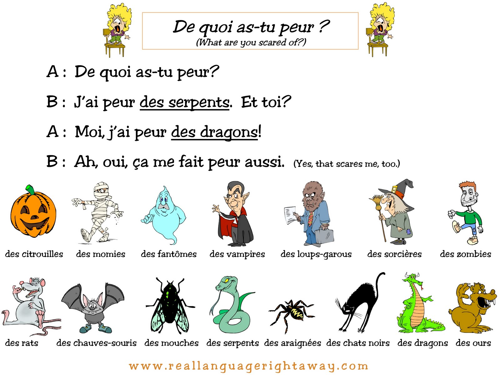 Real Language Right Away Halloween Conversations Try