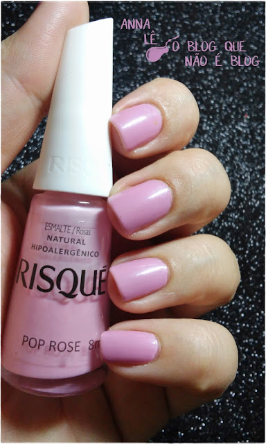 risque esmalte nailpolish pop rose