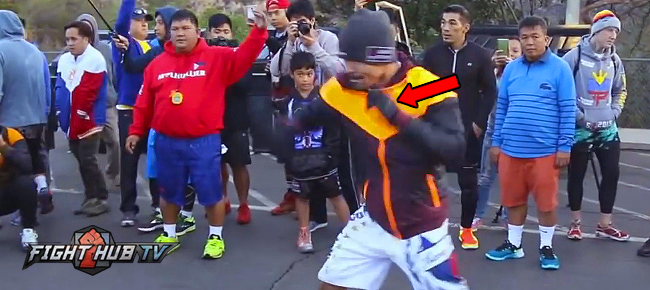 Manny Pacquiao Shows Off CRAZY Hand Speed In Final Mountain Workout! (VIDEO)