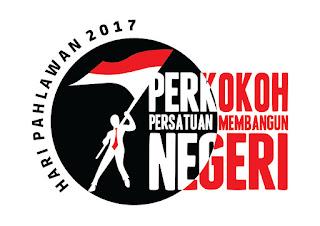 """Logo Hari Pahlawan 2017 """"Perkoko Persatuan Pembangunan Negeri"""""""