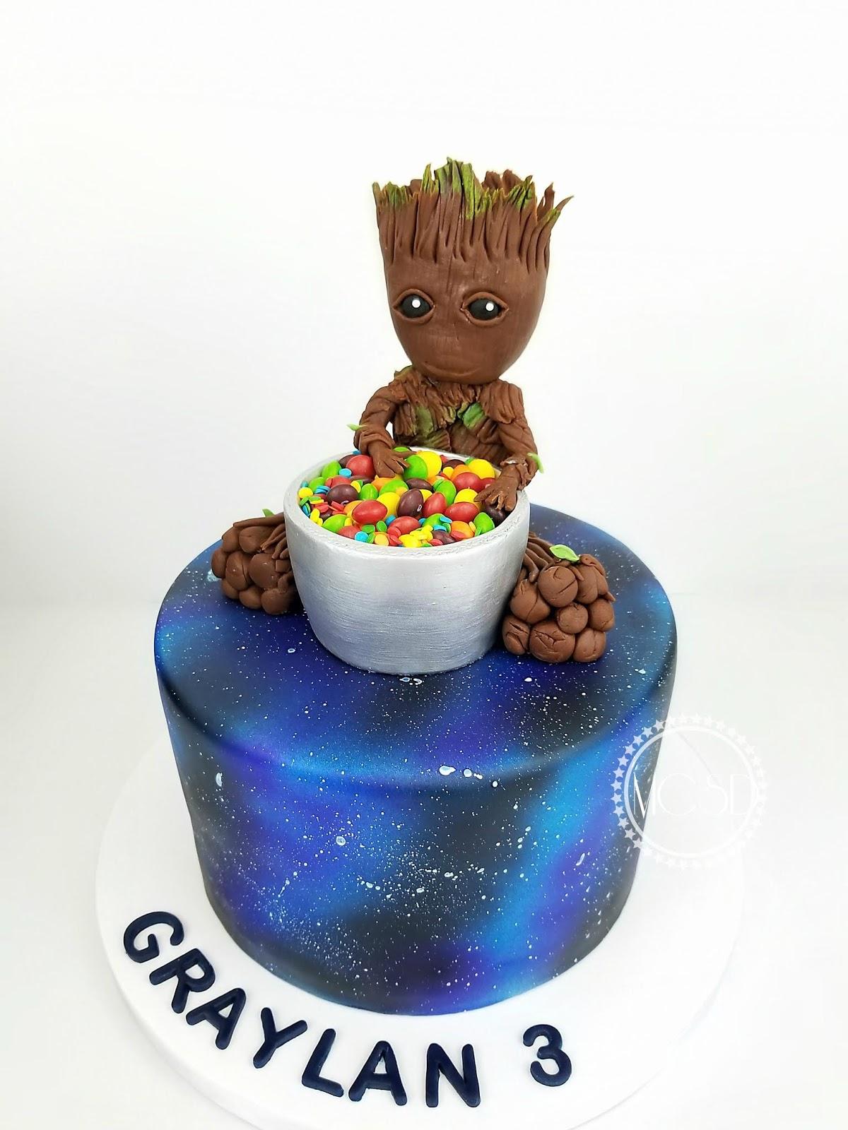 MyCakeSweetDreams: Baby Groot Guardians Of The Galaxy Cake