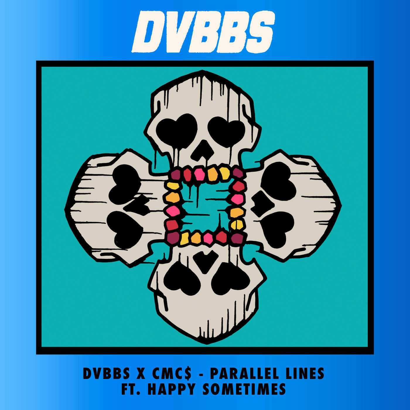 DVBBS & CMC$ - Parallel Lines (feat. Happy Sometimes) - Single Cover