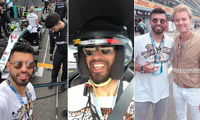 Formula One: Sergio Aguero goes behind the scene at Italian Grand Prix