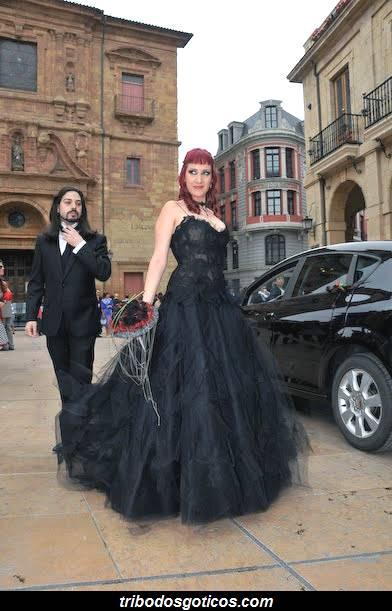 vestido preto gotica casamento