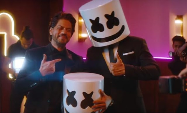 DJ Marshmello's new music video Biba is tribute to Bollywood and 'King of Romance' Shah Rukh Khan