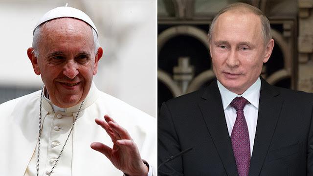 Putin habla con el papa Francisco sobre la protección de los cristianos en zona de conflictos