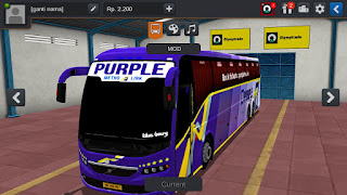 BUSSID MOD : Purple Travels Volvo Bus MOD | Purple Travels Volvo Bus livery download
