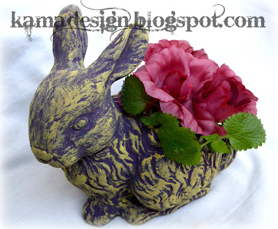 Easter bunny repaint using chalk paint look 3