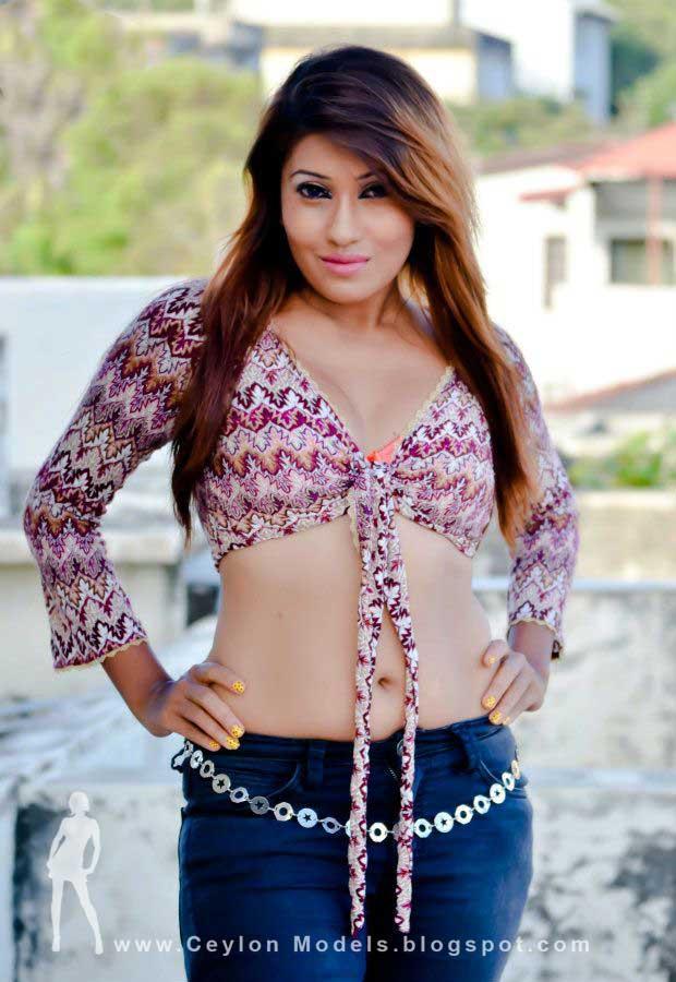 sri lankan model Fallon Michelle with bra