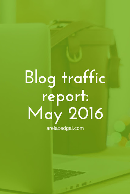 May 2016 blog traffic report - arelaxedgal.com