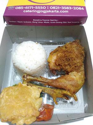 harga nasi box di Jogja spesial ayam kampung