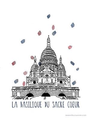 basilique du sacré coeur, le Sacré Coeur, France, Paris, monument parisien, FLE, le FLE en un 'clic', affiche, fond d'écran