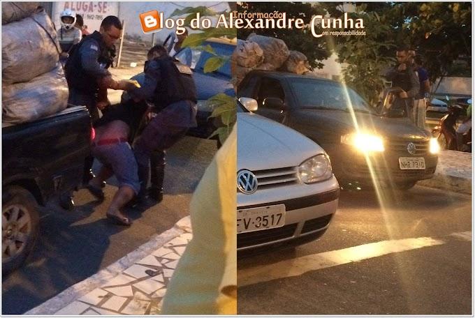 Motorista é flagrado dormindo na faixa de pedestre em frente à prefeitura de Chapadinha