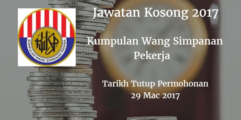 Jawatan Kosong KWSP 29 Mac 2017