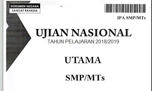 Kumpulan Soal UN SMP/SLTP 2019 (Ujian Nasional Sekolah Lanjutan Tingkat Pertama)