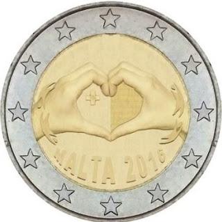 2€ commémorative Malte 2016