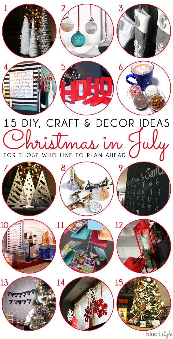 Christmas in July craft and diy projects