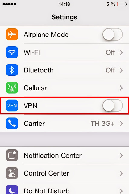 vpn client server iOS