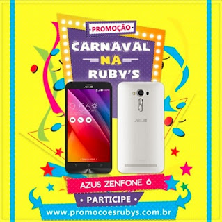 Participar promoção Rubys 2016