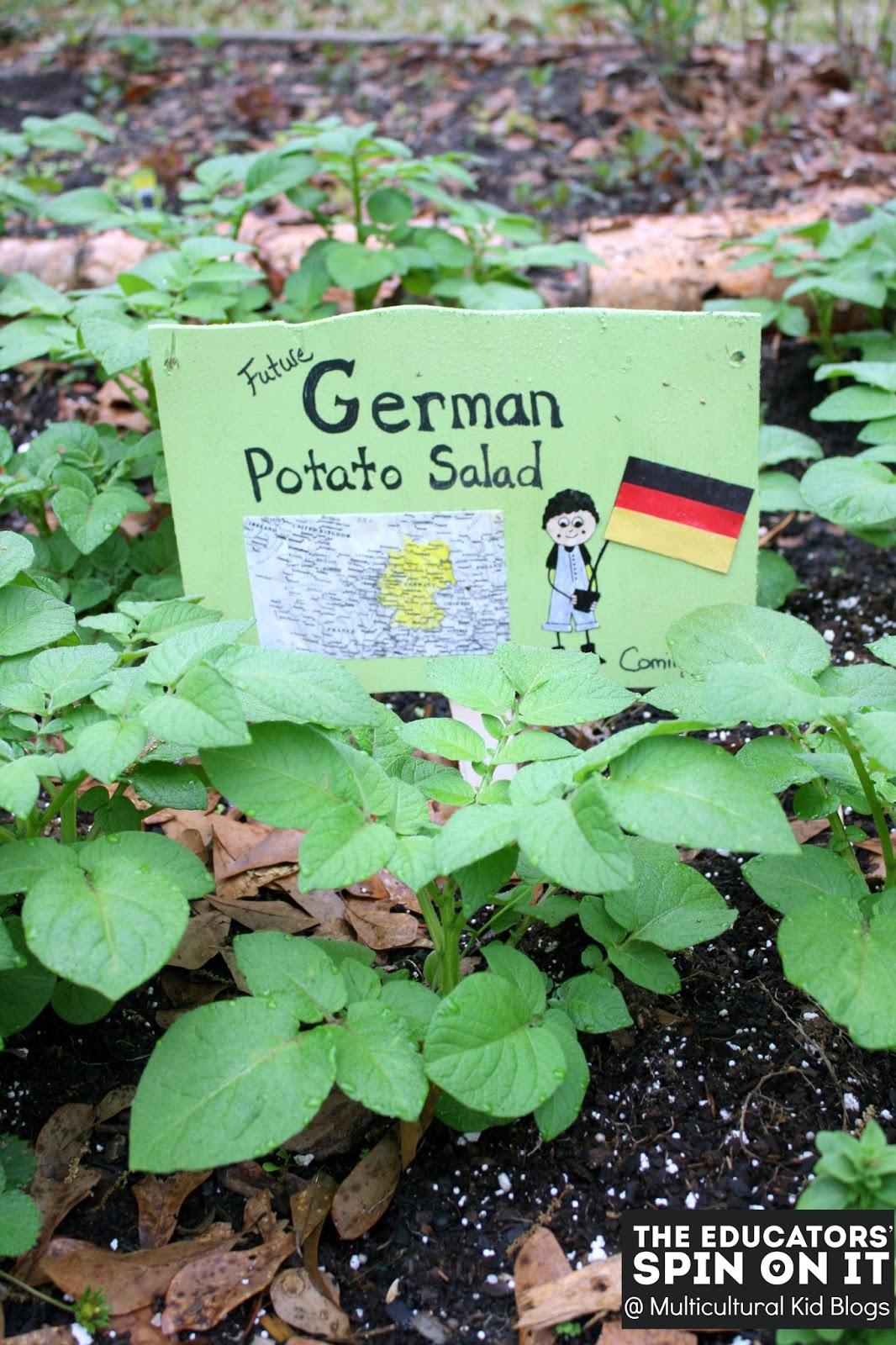 German Potato Salad Kids in the Garden