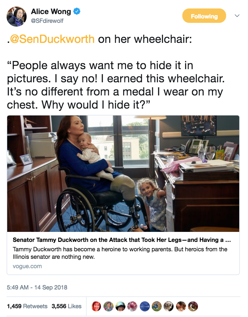 Tammy Duckworth People want me to hide my wheelchair