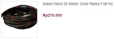 harga kabel hdmi 20 meter