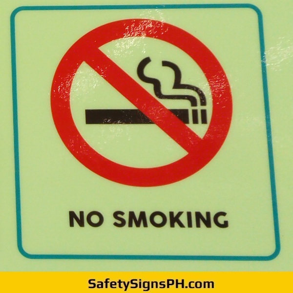 Glow in the Dark No Smoking Sign Philippines