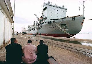 Le Port de Pointe-Noire, Congo, Cabinda, Angola