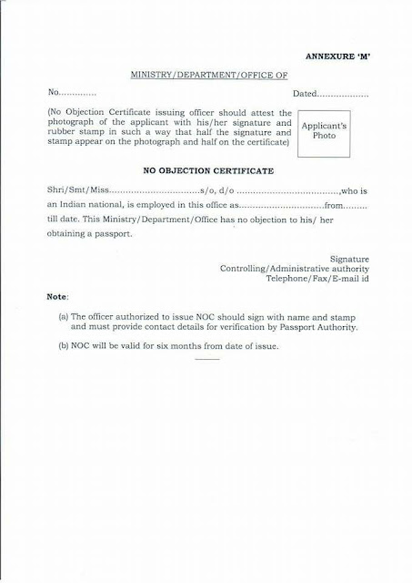 "No Objection Letter For Passport Glamorous Application For Seeking ""no Objection Certificate"" For Obtaining ."