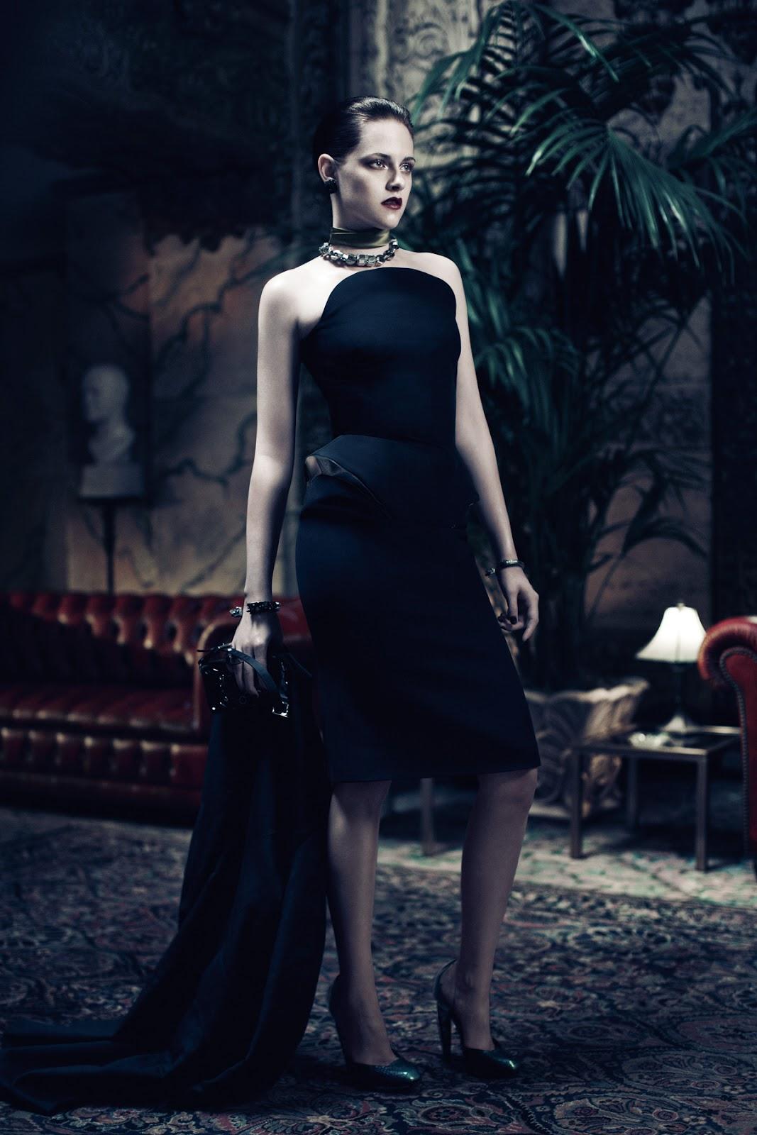 Fashion and Action: Dark Retro Glamour Photos of Kristen ...