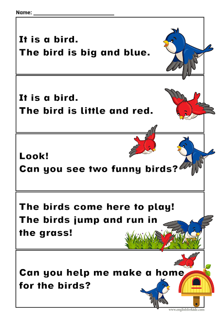 Sight words reading passages for kindergarten and grade 1