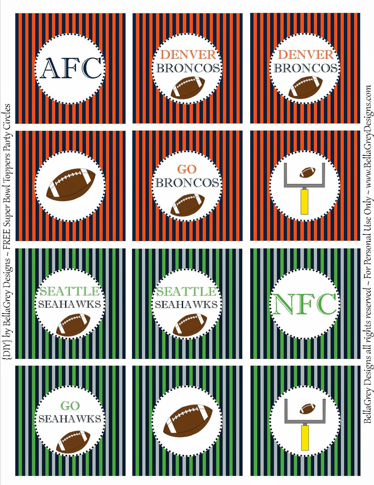 Bellagrey Designs Super Bowl Fun Free Printable