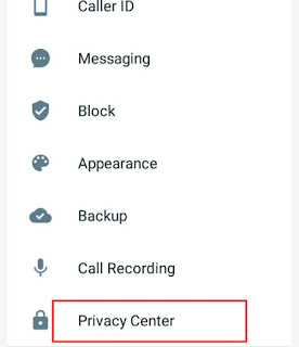 Privacy center