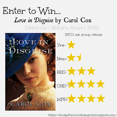 https://booksforchristiangirls.blogspot.com/2016/06/love-in-disguise-by-carol-cox.html