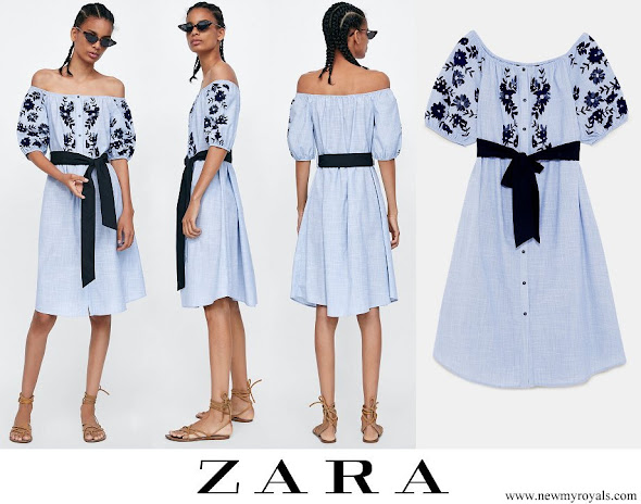 Kate Middleton wore ZARA flocked print dress