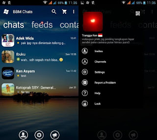 BBM Mod Windows Phone v2.12.0.11 Transparan