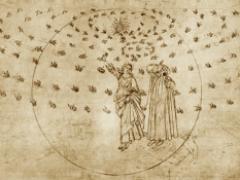 Dante y Beatriz y el Cielo de las Estrellas Fijas del Paraíso, Botticelli