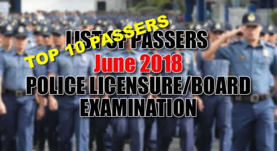 LIST: Top 10 Passers June 2018 Criminologist Licensure Exam PRC