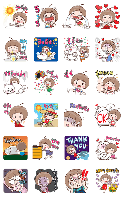 Lumyai Pop-Up Stickers