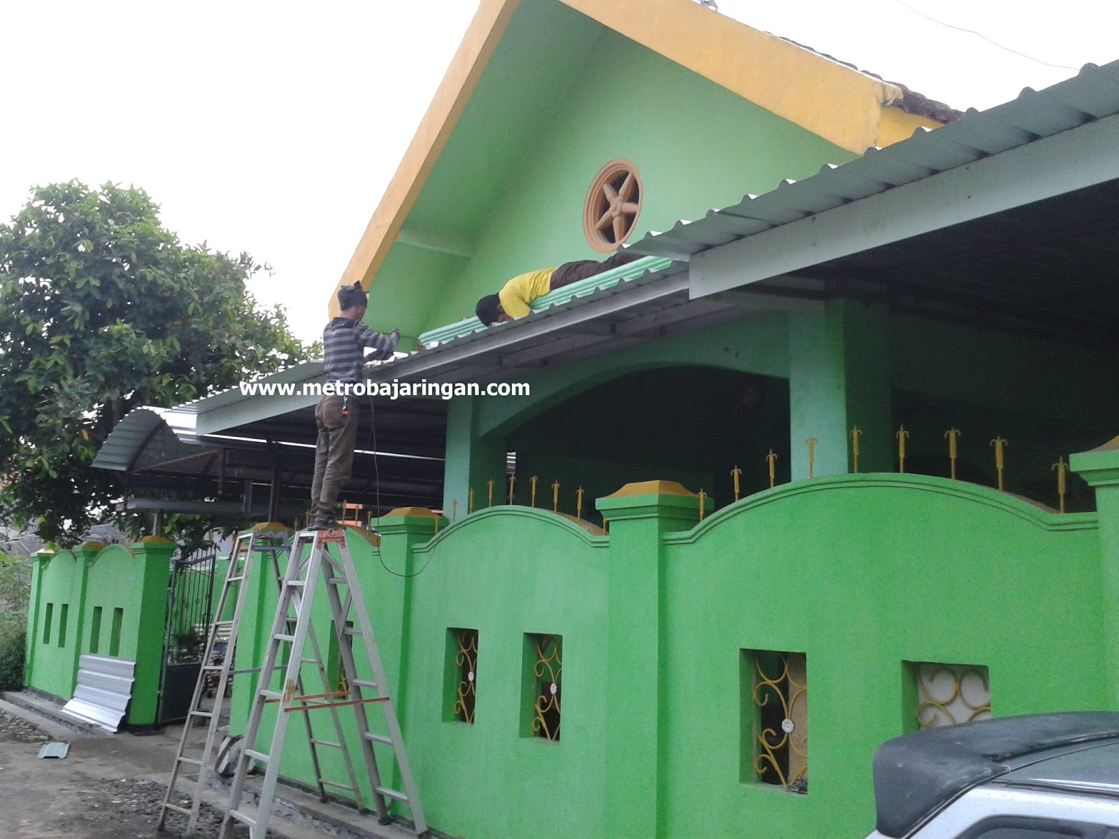 Renovasi Atap Baja Ringan Rumah Tipe 36 Gambar Model Asbes | Interior